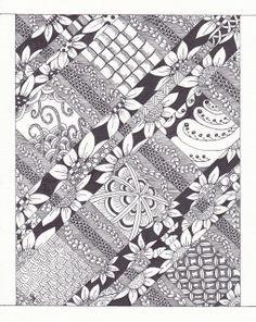 very intricate Zentangle