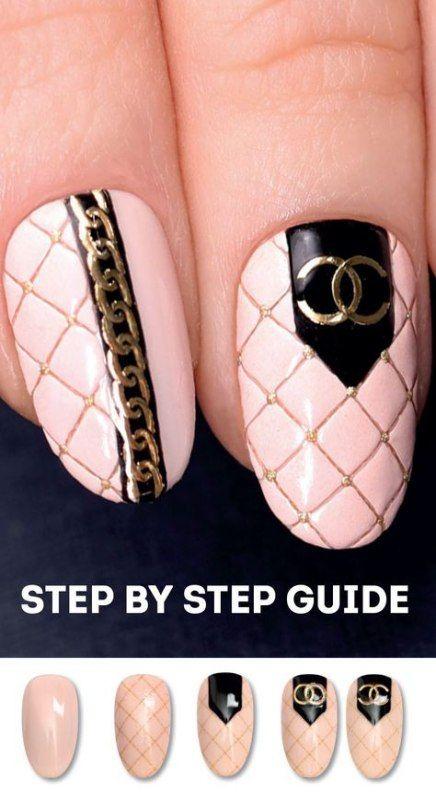 Super Makeup Party Tutorial Nail Art Ideas Chanel Nails Diy Nail Designs Nail Art Tutorial