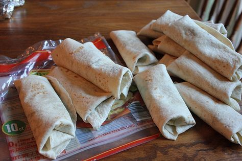 Make Ahead Frozen Burritos. Good idea, and I would add some frozen spinach or other veggies.