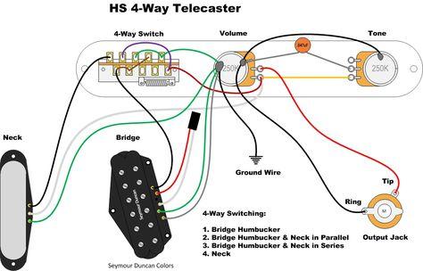 Hs 4 Way Tele Wire Series Parallel Guitar Diy
