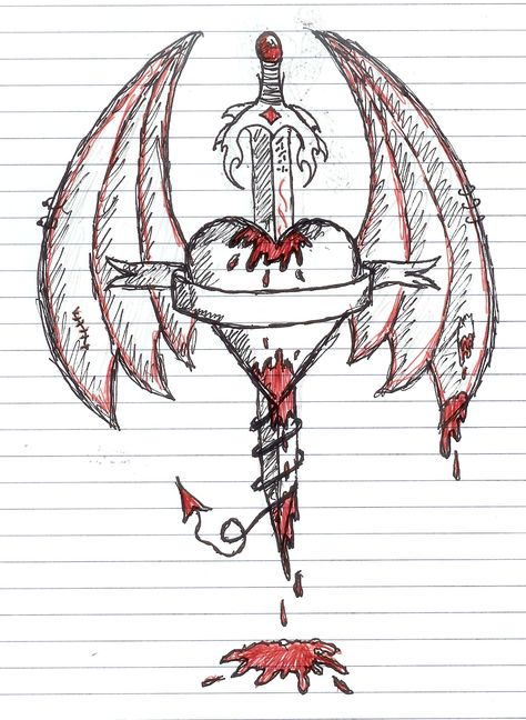 Bleeding Heart Drawings | Bleeding Heart of Darkness 1 by ~Dark-Angel-90 on deviantART