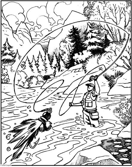 Fly Fishing Crayola Com Free Coloring Pages Coloring Pages Animal Coloring Pages
