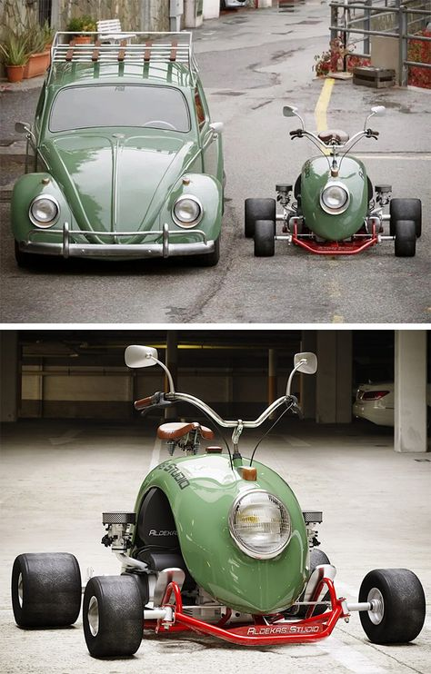 Vw T, Volkswagen, Mini Bike, Go Kart, Vintage Cars, Vintage Style, Old Cars, Custom Cars, Beetle