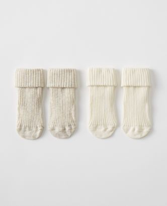 Ribbed Baby Socks 2 Pack Organic Cotton Baby Baby Socks Baby Girl Fashion