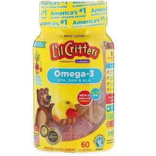 L Il Critters Omega 3 Raspberry Lemonade Flavors 60 Gummies Raspberry Lemonade Gummy Vitamins Gummies