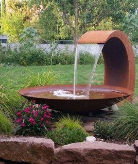 Wasserfall Cortenstahl Mandy Brunnen Garten Gartenbrunnen