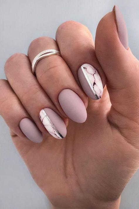 30 Perfect Pink And White Nails For Brides ❤ pink and white nails bridal original design with marble pattern nailartist_natali #weddingforward #wedding #bride #bridalnails #pinkandwhitenails
