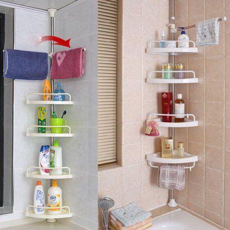 Triangle 4 Layers Shower Shelf Storage Basket Holder Kitchen