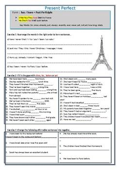 This bundle comprises of 4 different handouts designed to teach the Present Perfect and Present Perfect Cont tenses to upper elementary-intermediate level ESL learners. The handouts include gap filling exercises, transformation exercises, texts, and speaking prompts to help students differentiate between the two tenses and practice their