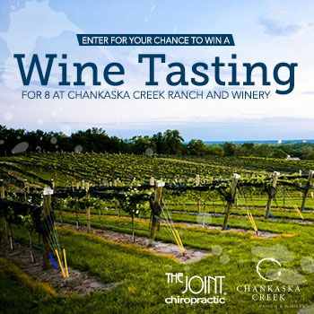 Ks95 And The Joint Chiropractic Wants One Winner To Receive A Wine Tasting For 8 Total At Chankaska Creek Ranch And Winery Wine Tasting Winner Winery