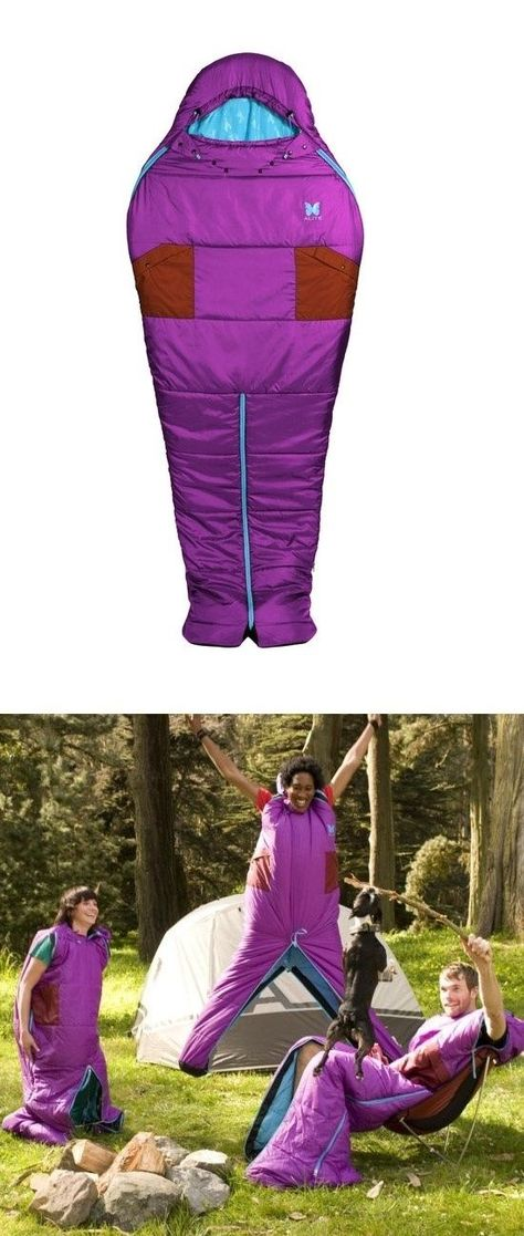 Sleeping Bag Onesie | 32 Things You'll Totally Need When You Go Camping- these crack me up