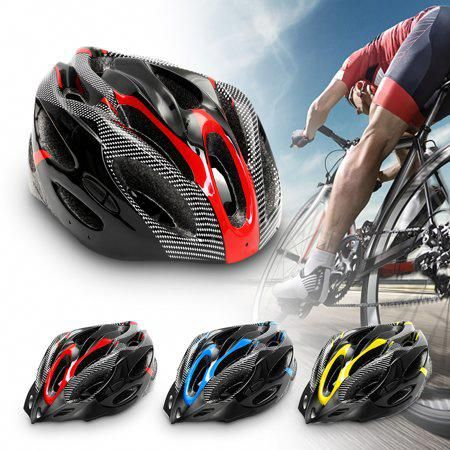 Safety Adjustable Bicycle Bike Adult Helmet Cycling Road Carbon Visor Mountain For Mens Women Boys Unisex Red Black Bike Helmet Cycling Man Bike Bicycle Bike