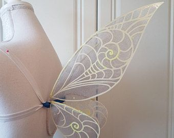 Small Tinkerbell Periwinkle Inspired Costume Wearable Wings Fairy Wings Costume Wings Ready To Ship Fairy Costume Diy Fairy Wings Costume Tinkerbell Wings