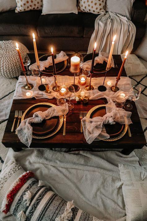 Romantic Dinner Setting, Romantic Picnics, Romantic Dinners, Romantic Home Dates, Romantic Candle Light Dinner, Romantic Night, Romantic Room Surprise, Romantic Birthday, Ideas Sorpresa