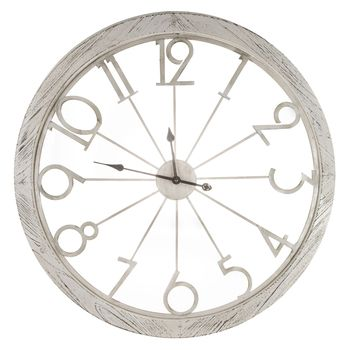 Distressed White Metal Wall Clock White Wall Clocks Galvanized