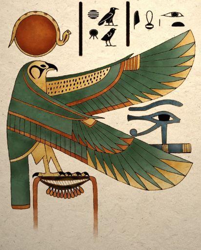 Ancient Egyptian Art Print Horus Falcon Wall Decor | Etsy
