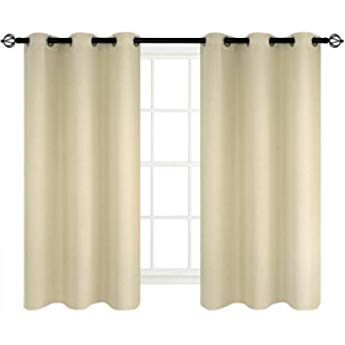 Amazon Com Deconovo Thermal Insulated Blackout Curtain Panel For Outdoor Skyblu Insulated Blackout Curtains Panel Curtains Thermal Insulated Blackout Curtains