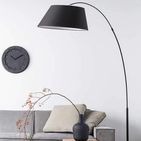Zuiver Arc Study Floor Lamp In Black Floor Lamps Living Room Floor Lamp Black Floor Lamp