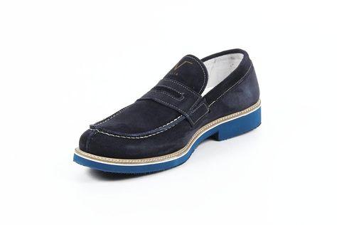 Versace 19.69 Abbigliamento Sportivo Milano mens loafers 908 CAMOSCIO BLU
