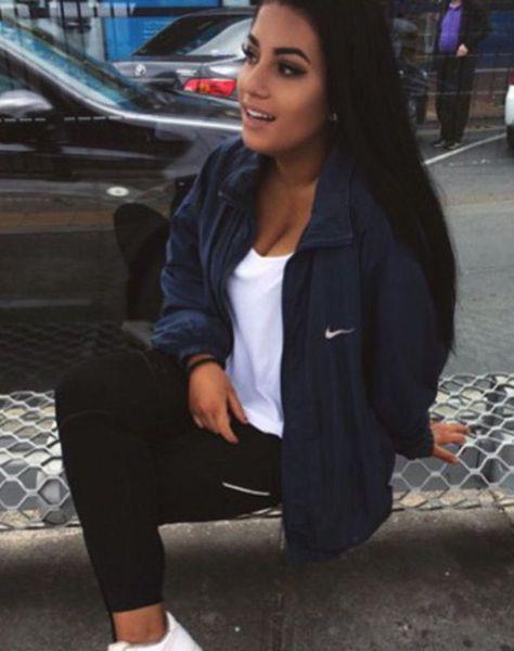 Nike sneakers white sneakers nike jacket nike sportswear black leggings jacket navy nike windbreaker blue nike navy blue wind runner exactly the same as