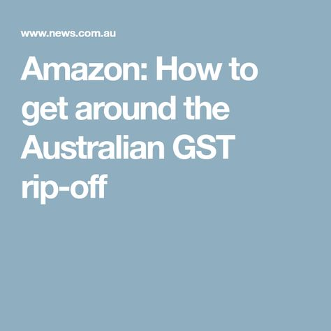 Online Shopping Tax Punishes Aussie Consumers Punishment