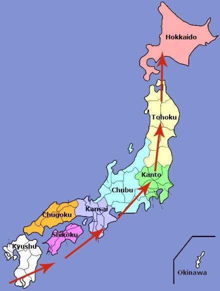 Cherry Blossom Forecast Map For 2019 Cherry Blossom Japan Japan Fall Foliage