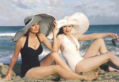 Susan Sarandon and Geena Davis, shot by Annie Leibovitz, in honor of the 20th anniversary of Thelma & Louise.