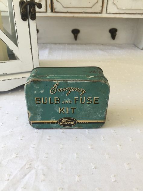 1950 s ford emergency bulb and fuse kit vintage tin box classic 1950 s ford emergency bulb and fuse kit vintage tin box classic car