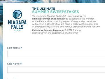 Niagara Falls Ultimate Summer Sweepstakes | Sweepstakes | Summer