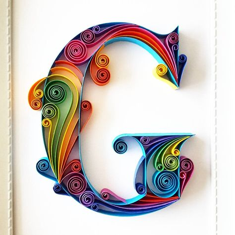 Quilled Paper Art Monogram Personalized Gift 3D Paper Art   Etsy