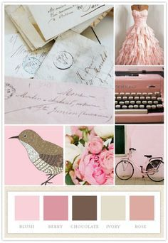 Vintage Color Schemes On Pinterest