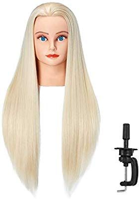 Amazon Com Hairlink 26 28 Mannequin Head Synthetic Fiber Hair Styling Training Head Dolls For Cosmetology Manikin Man Hair Styles Head Hair Mannequin Heads