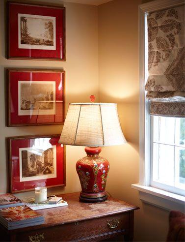 Red mats | Lamp