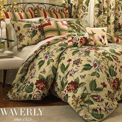 Laurel Springs Floral Comforter Bedding By Waverly Postelnoe