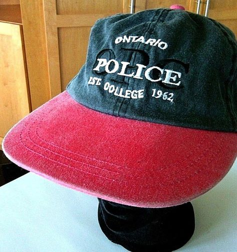 Ontario Police College Baseball Cap Snapback Hat Canada Black Red Summer  Sports  Unbranded  BaseballCap 2b92dc19174