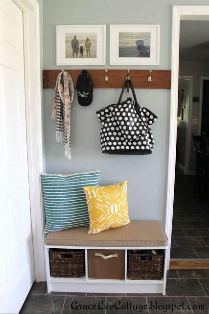 One Project At A Time Bowl Full Of Lemons Link Party Mud Room Entry Way Diy Bench Entryway