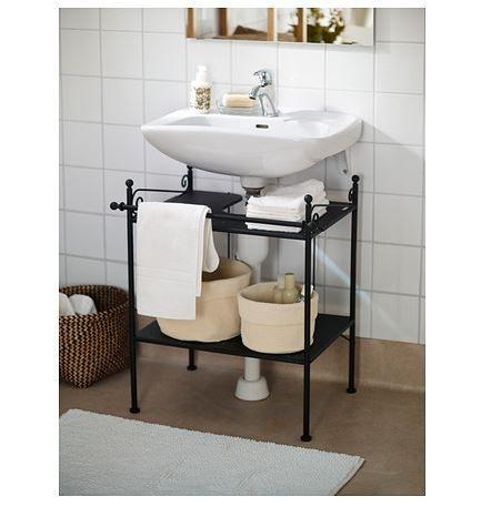Mueble bajo lavabo, estante de madera maciza con 1 cajón. | Mueble ...