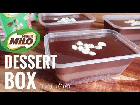 Milo Coklat Dessert Box Mudah Ekonomis Trivina Kitchen Youtube Oreo Desserts Resep Makanan Penutup Pudding Desserts