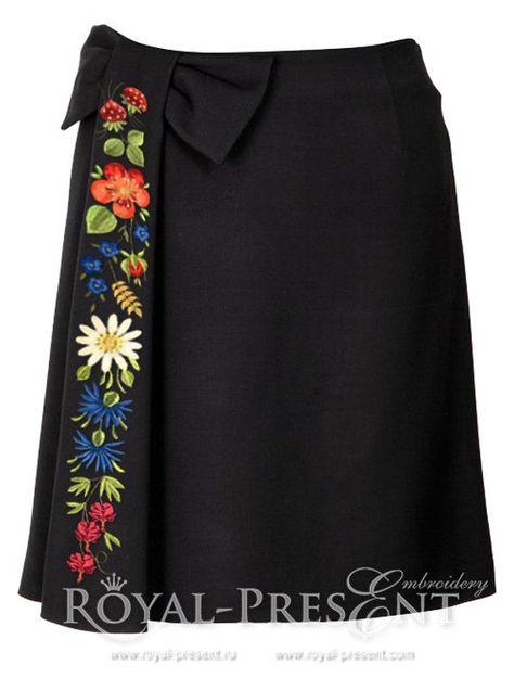 Estonian Folk Art I 4 Floral Machine Embroidery Designs skirts etc