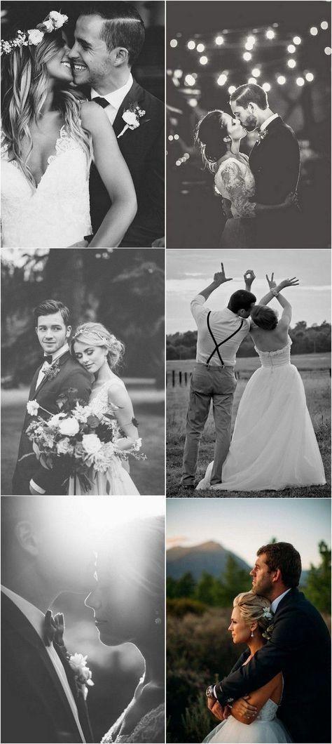 Ideen für Hochzeitsfotos von Braut und Bräutigam #weddingphotos #weddingideas #ILoveWeddings - Bilder Clubs