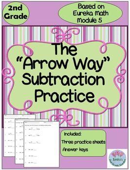 2nd Grade 'Arrow Way' Subtraction Practice Based on Eureka Math