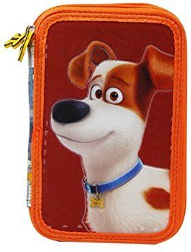 Amazon Com Secret Life Of Pets Pencil Case Sl Of Pets 2 Zippers D217 Secret Life Of Pets Pencil Case Secret Life