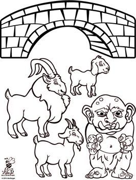 Distance Learning Activity Three Billy Goats Gruff Black And