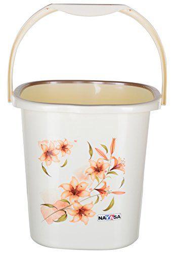 Nayasa 2 Piece Square Plastic Bathroom Bucket And Mug Set Off White Mugs Set Mugs Bucket