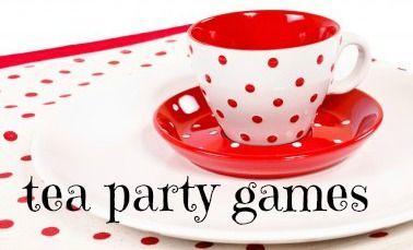 Tea party games