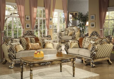 Furniture Stores in Los Angeles - Borguese Victorian Style Sofa ...