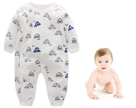 9aa147f0d6 Baby Boy Sleepers Footless Pajamas Long Sleeve Sleepsuit Coveralls Cotton  Snap Sleep and Play     Would like to know more