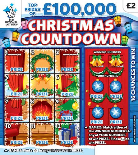 Christmas Countdown 2 National Lottery Scratchcard National