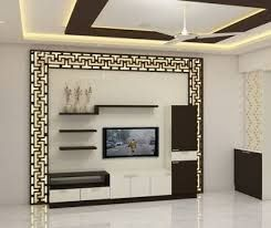 Modern Ceiling Design For Living Room 2020 Bangmuin Image Josh Modern Tv Wall Units Wall Tv Unit Design Tv Room Design