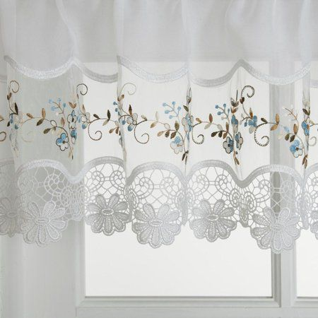 Home Blue Kitchen Curtains Curtains Window Treatments Valance